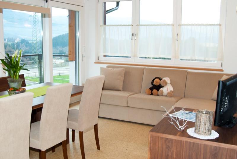 Wohnraum-Sicht-Sueden